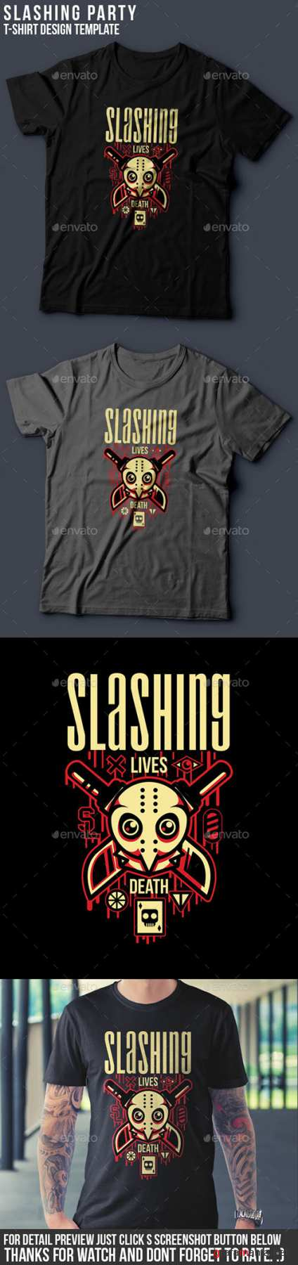 GR - Slashing Party T-Shirt Design 15143026