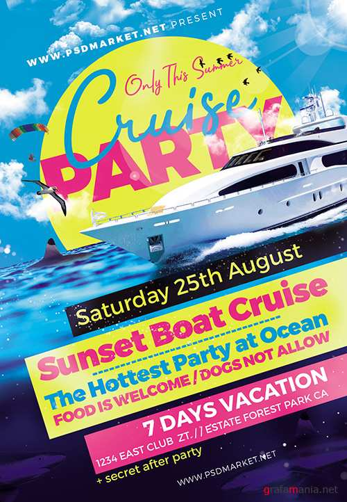 PSD Template - Cruise Party Flyer