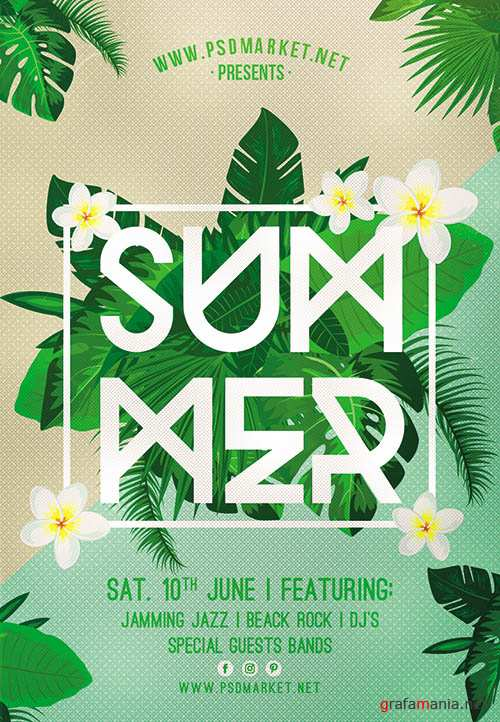 PSD Template - Summer Party Flyer