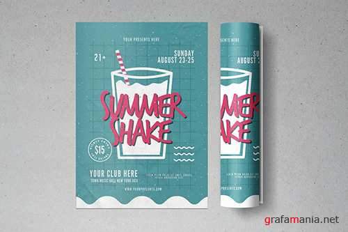 PSD Summer Shake Flyer