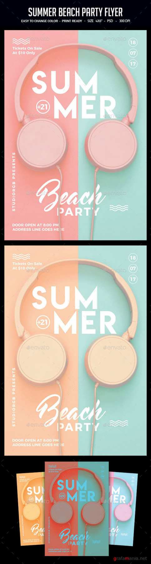 GR - Summer Beach Party Flyer 22218525