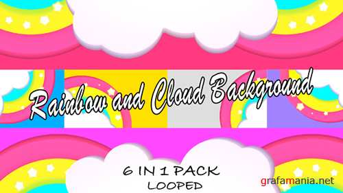 Rainbow and Cloud Background Pack 19519318