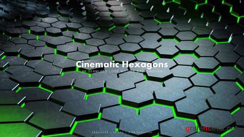 Cinematic Hexagons Green 19591084