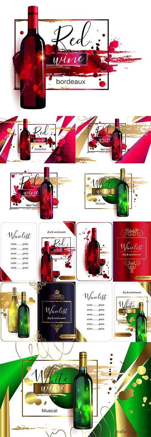 Vector Wine Posters and Lists