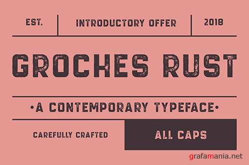 GROCHES RUST Font