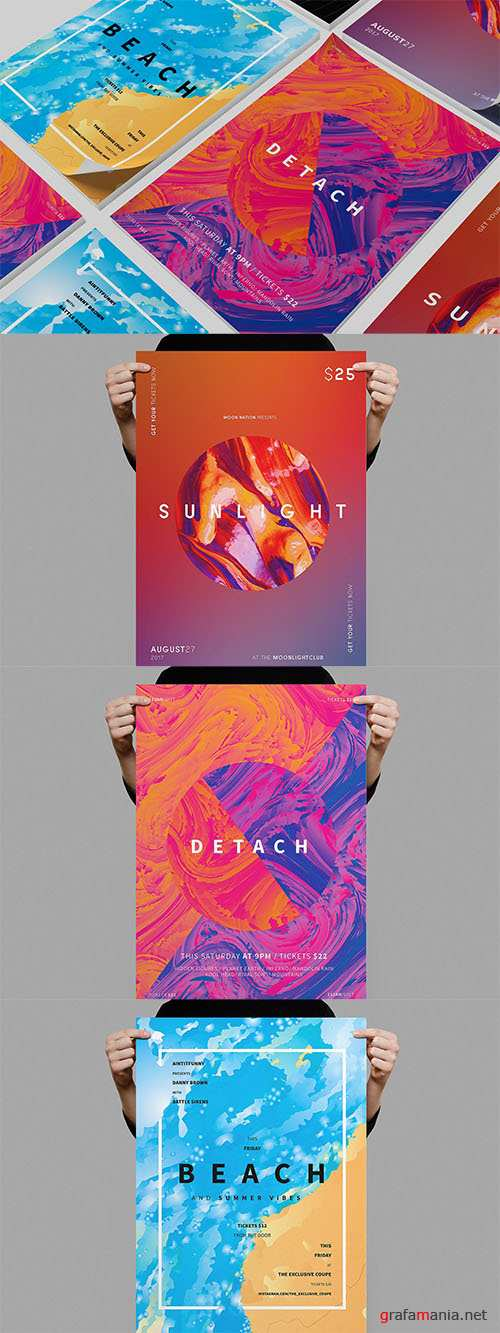 PSD Summer Poster Bundle 2
