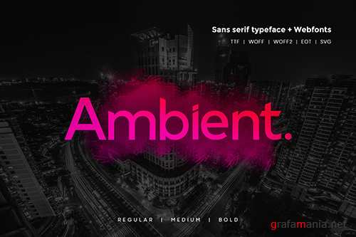 Ambient - Modern Typeface + WebFonts
