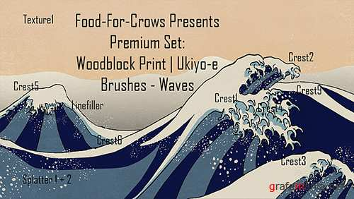 Woodblock Print Wave Method Brushes