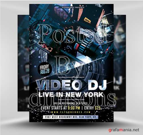 PSD DJ Video Flyer 1