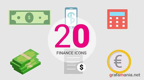 MA - Infographic Presets: 20 Finance Icons 97631
