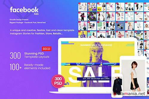 Fashion Facebook Post , NewsFeed - 300 PSD