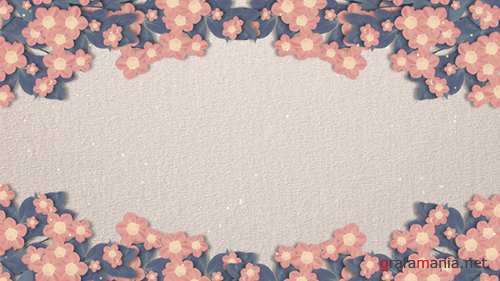 Blooming Paper Flower Background 19616926