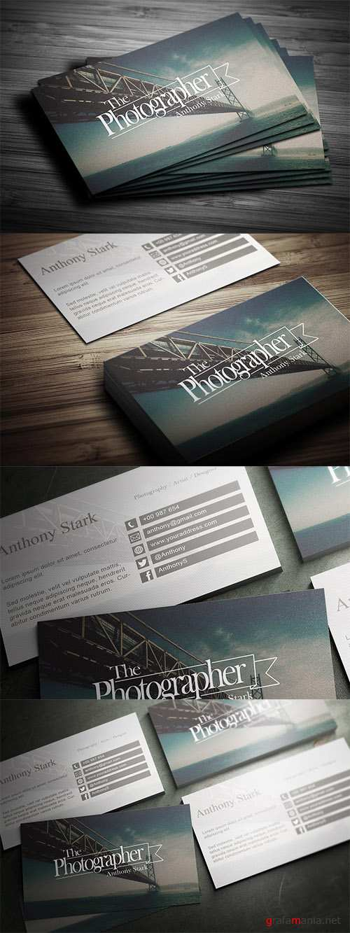 PSD Photography Business Card Design