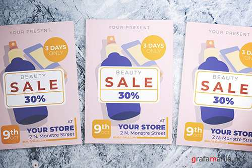 Beauty Sale Flyer PSD