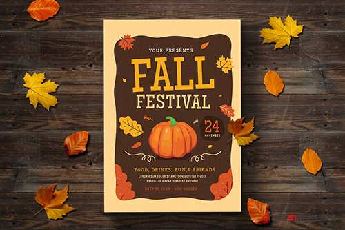Fall Festival Flyer 2 PSD