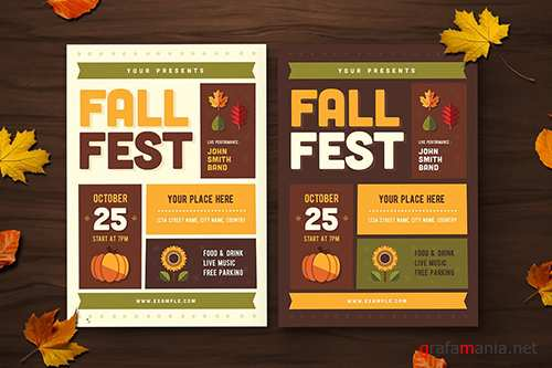 Fall Festival Flyer PSD
