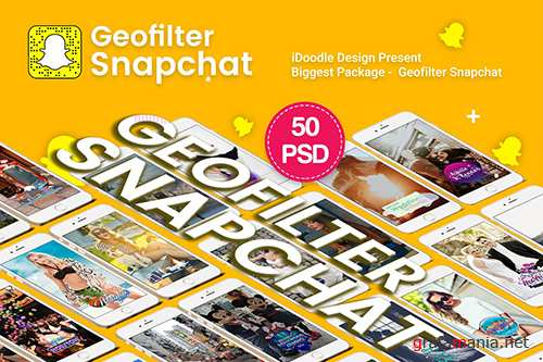 Promotion Geofilters Snapchat - 50 PSD