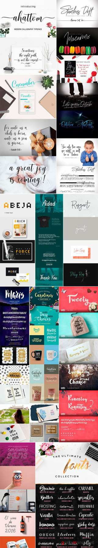 Mix Fonts Bundle 8