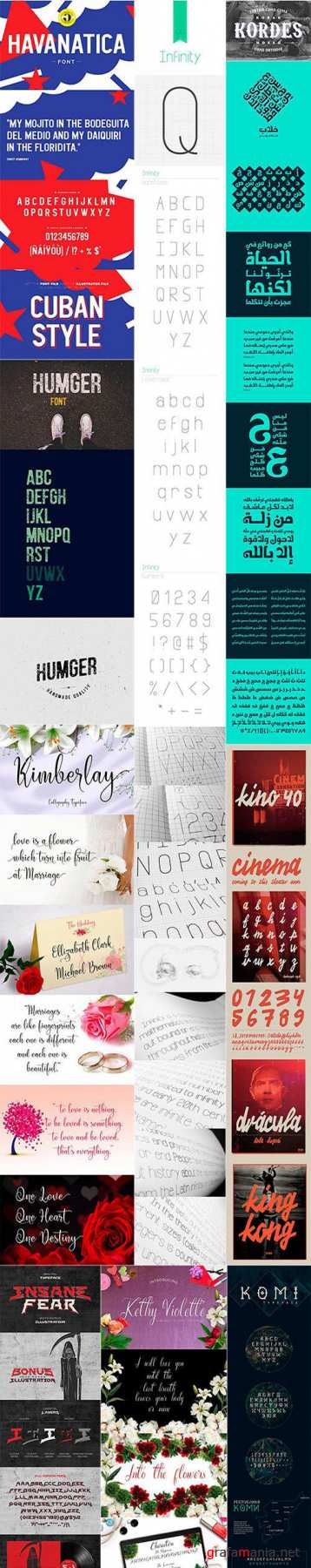 Mix Fonts Bundle 11