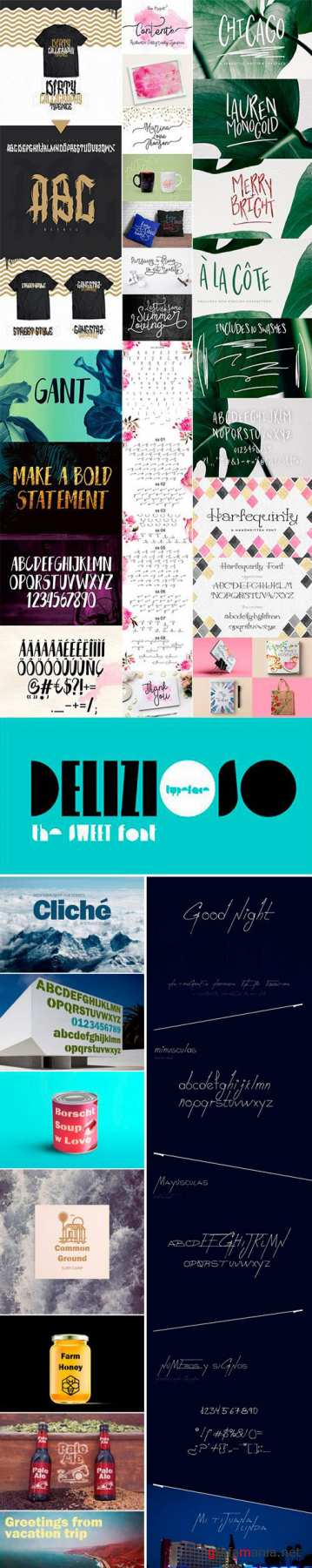 Mix Fonts Bundle 12