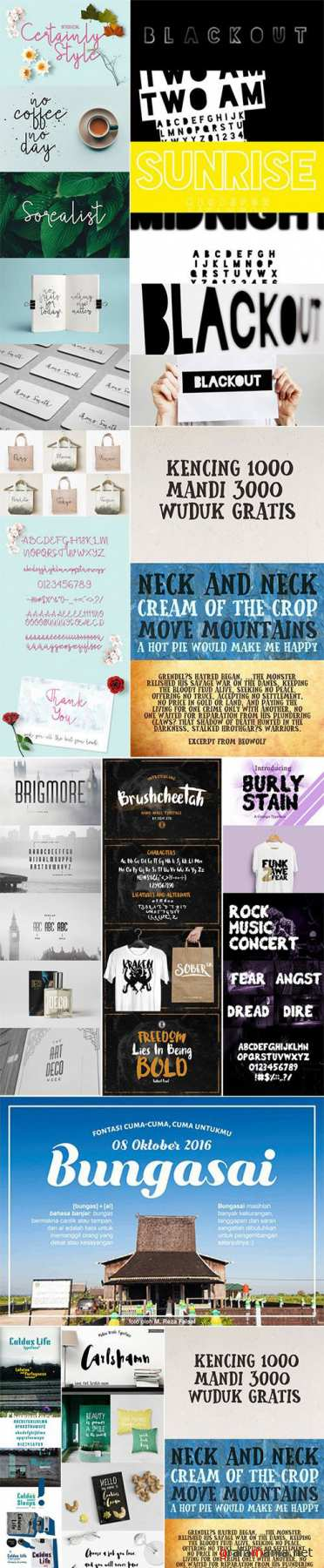 Mix Fonts Bundle 13