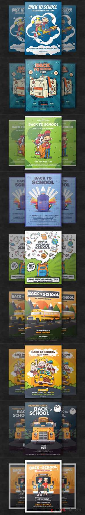 10 Back To School Flyer Templates PSD