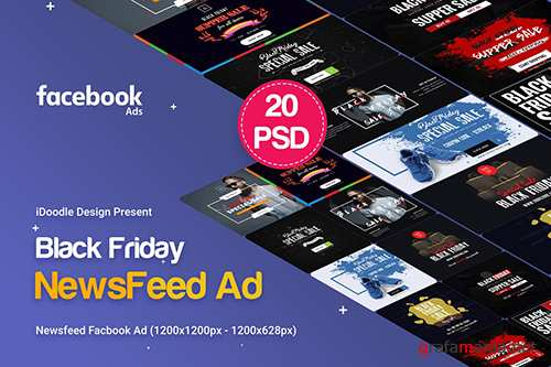 Black Friday NewsFeed Banners Ad - 20 PSD
