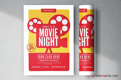 Movie Night Flyer PSD
