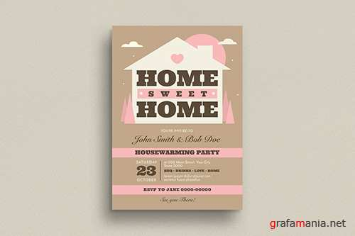 House Warming Invitation/Flyer PSD