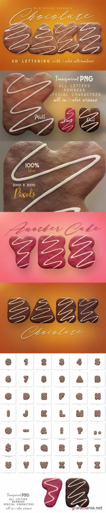 Chocolate Cake - 3D Lettering 2749554