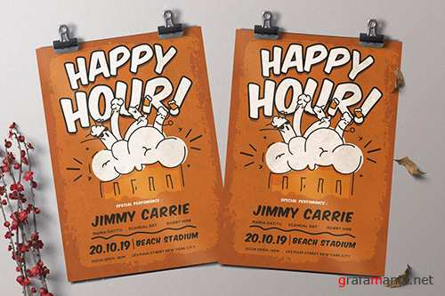 Happy Hour Flyer PSD