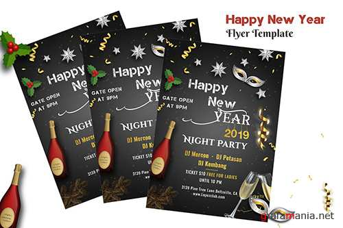 New Year Night Party Flyer