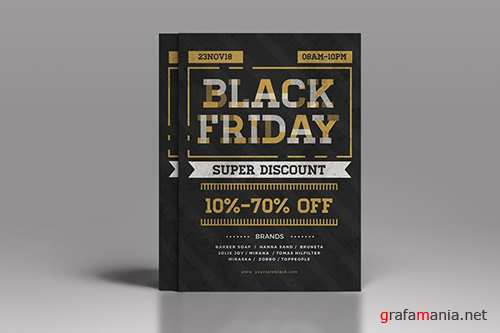 PSD Black Friday Flyer