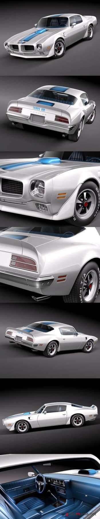 Pontiac Firebird Trans Am 1970 3D Model