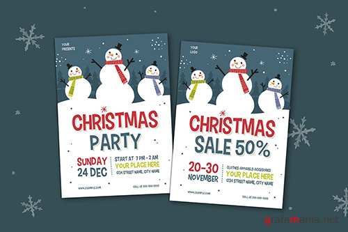 PSD Christmas Party & Sale Flyer