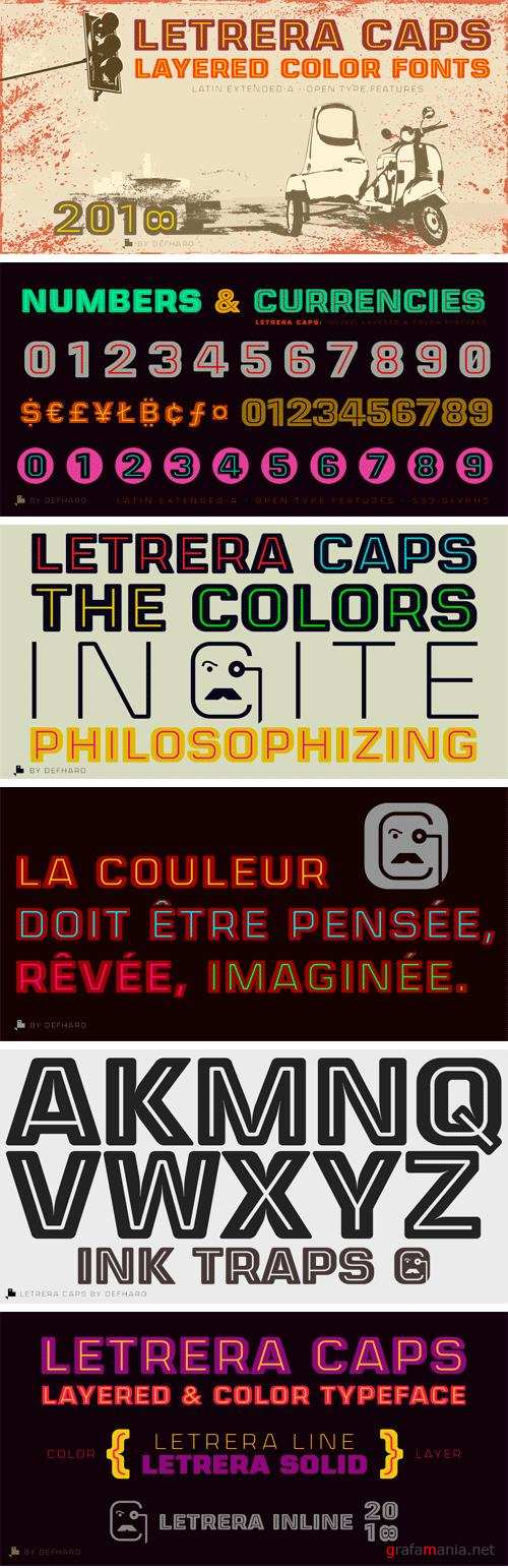 CM - Letrera Caps - Layered & Color Fonts 2769970