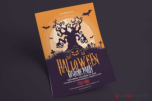 PSD Halloween Flyer - Costume Party