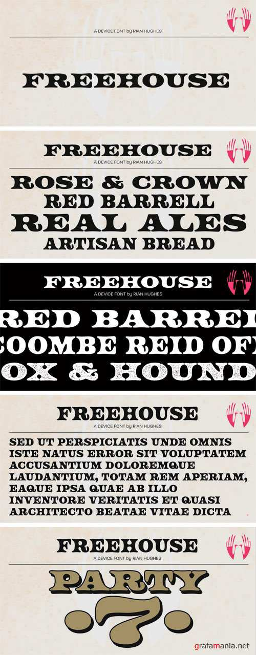 Freehouse Font Family