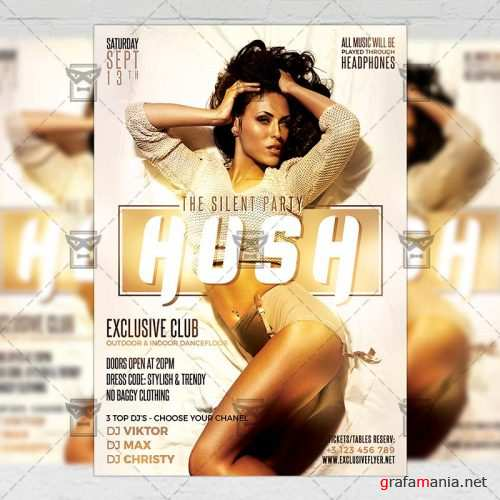 Club A5 Template - Hush Party Flyer