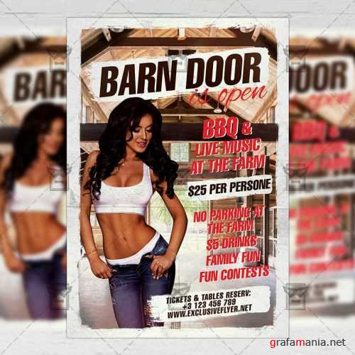 Club A5 Template - Barn Doors is Open Flyer