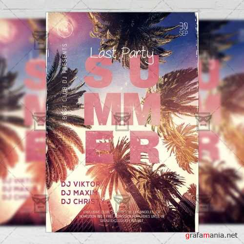Seasonal A5 Template - Last Summer Party Flyer