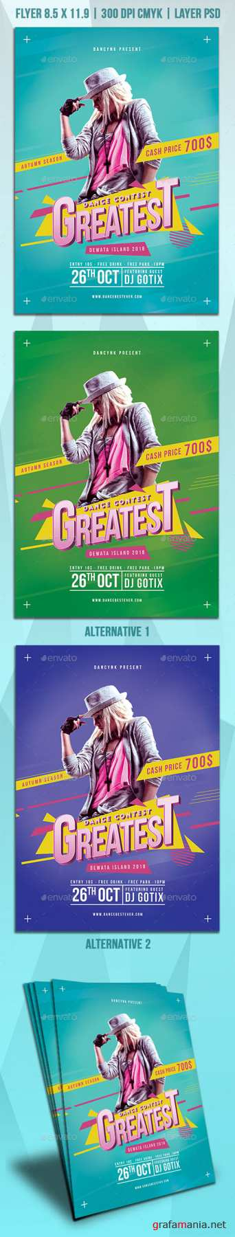GraphicRiver - Dance Contest Flyer 22454117