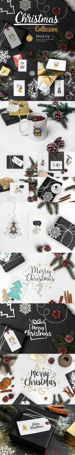 PSD Christmas Mock-Up Collection