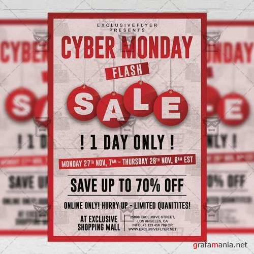 Community A5 Flyer Template - Cyber Monday Flash Sale
