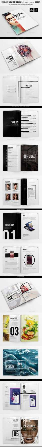 Graphicriver - Elegant Minimal Proposal - 44 pgs - A4 and US Letter 20076300