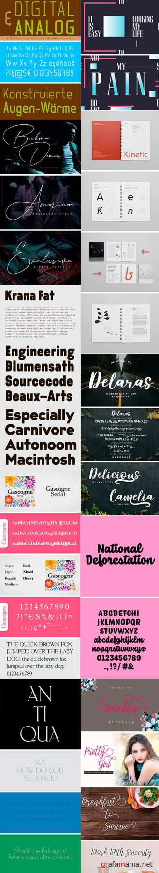 Fonts Bundle Vol.5 2018