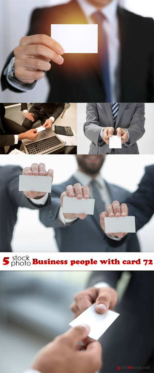 Растровый клипарт - Business people with card 72