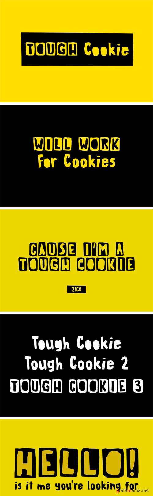 Tough Cookie Font Family