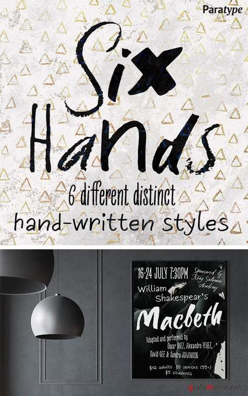 Six Hands Font Family
