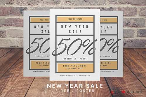 New Year Sale Flyer PSD